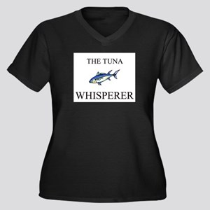 The Tuna Whisperer Women's Plus Size V-Neck Dark T