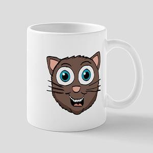 Cute brown kitty Head Mugs
