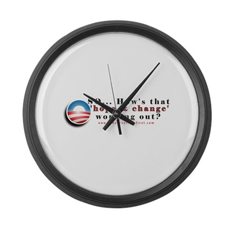 Hope and Change Large Wall Clock