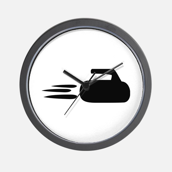 curling icon Wall Clock