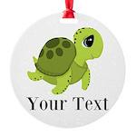 Personalizable Sea Turtle Ornament