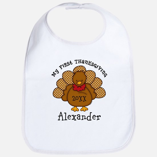 Baby Turkey 1st Thanksgiving Baby Bib