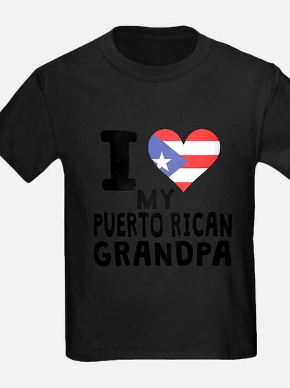 I Heart My Puerto Rican Grandpa T-Shirt
