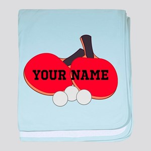 Personalized Table Tennis Ping Pong baby blanket