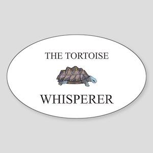 The Tortoise Whisperer Oval Sticker