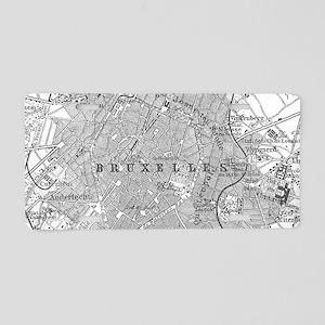 Vintage Map of Brussels Bel Aluminum License Plate