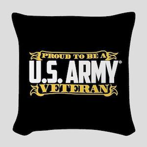 U.S. Army Proud Veteran Woven Throw Pillow