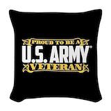 Army veteran Woven Pillows