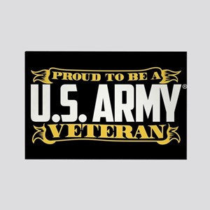 U.S. Army Proud Veteran Rectangle Magnet