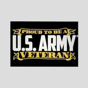 U.S. Army Proud Veteran Rectangle Magnet