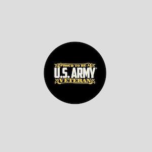 U.S. Army Proud Veteran Mini Button