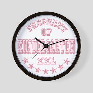 Pink Property Of Kindergarten XXL Wall Clock