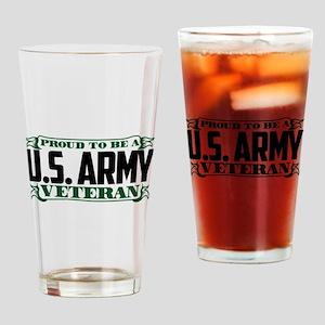 U.S. Army Proud Veteran Drinking Glass