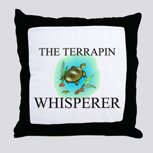 The Terrapin Whisperer Throw Pillow