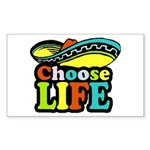 Choose life Rectangle Sticker 50 pk)