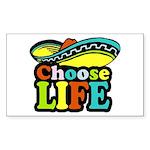 Choose life Rectangle Sticker 10 pk)