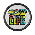 Choose life Large Wall Clock