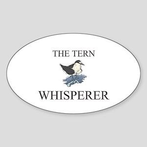 The Tern Whisperer Oval Sticker