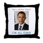 All Ears Throw Pillow