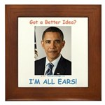 All Ears Framed Tile