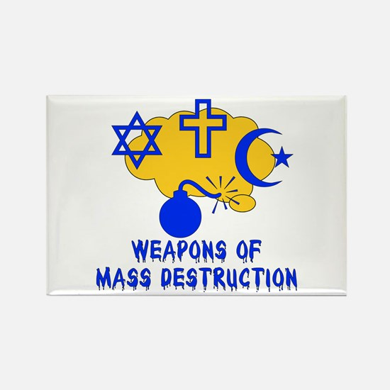 Religion Mass Destruction Rectangle Magnet