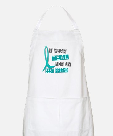 I Wear Teal For My Best Friend 37 BBQ Apron