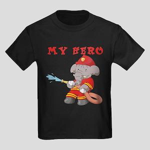 My Hero Firefighter Kids Dark T-Shirt