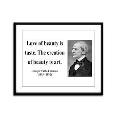 Ralph Waldo Emerson 21 Framed Panel Print
