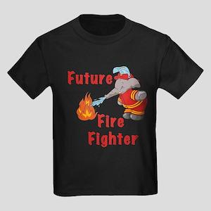 Elephant Future Firefighter Kids Dark T-Shirt