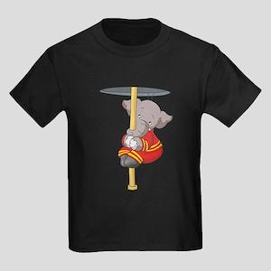 Firefighter Elephant Kids Dark T-Shirt