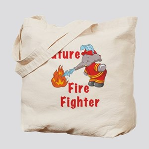 Elephant Future Firefighter Tote Bag