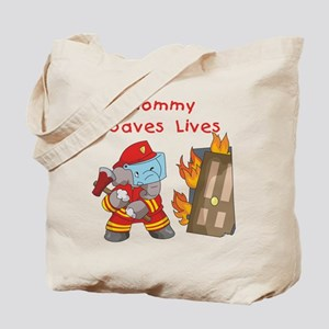 Firefighter Mommy Tote Bag