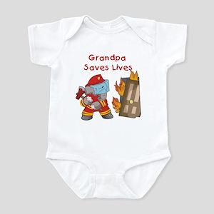 Firefighter Grandpa Infant Bodysuit