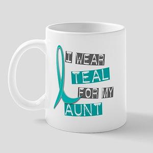 I Wear Teal For My Aunt 37 Mug