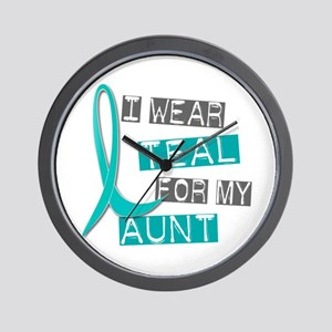 I Wear Teal For My Aunt 37 Wall Clock