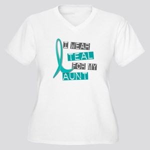 I Wear Teal For My Aunt 37 Women's Plus Size V-Nec