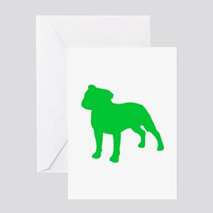 Staffordshire Bull Terrier St. Patty's Day Greetin