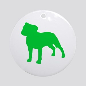 Staffordshire Bull Terrier St. Patty's Day Ornamen