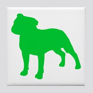 Staffordshire Bull Terrier St. Patty's Day Tile Co