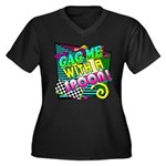 Gag Me With A Spoon! Women's Plus Size V-Neck Dark
