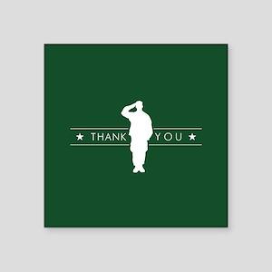 "U.S. Army Thank You Square Sticker 3"" x 3"""