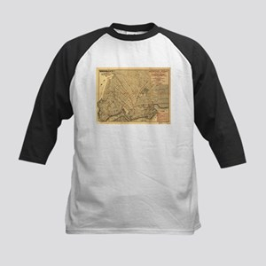 Vintage Map of Brooklyn New York ( Baseball Jersey