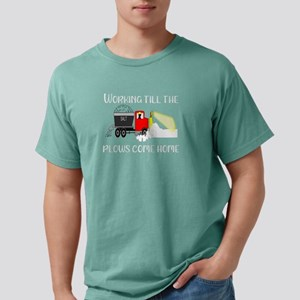 Winter Until the Plows Come Home Snow Plow T-Shirt