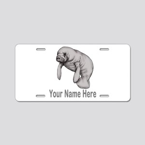 I love Manatees Aluminum License Plate