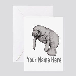 I love Manatees Greeting Cards