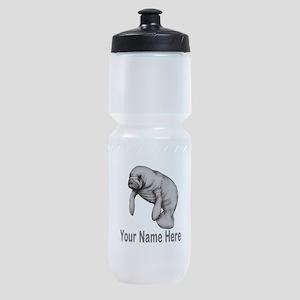 I love Manatees Sports Bottle