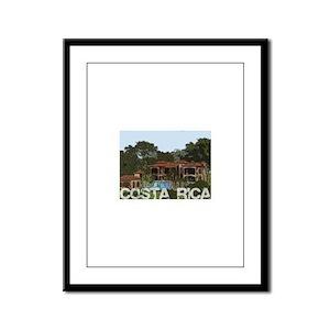 Beach house in costa rica Framed Panel Print