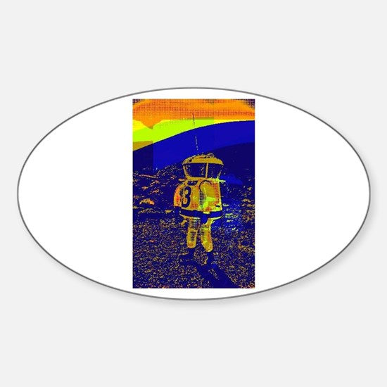SpaceMan Oval Decal