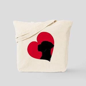 Red Heart N Tote Bag