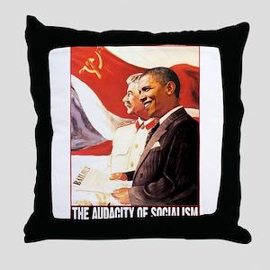 the audacity of socialism Throw Pillow